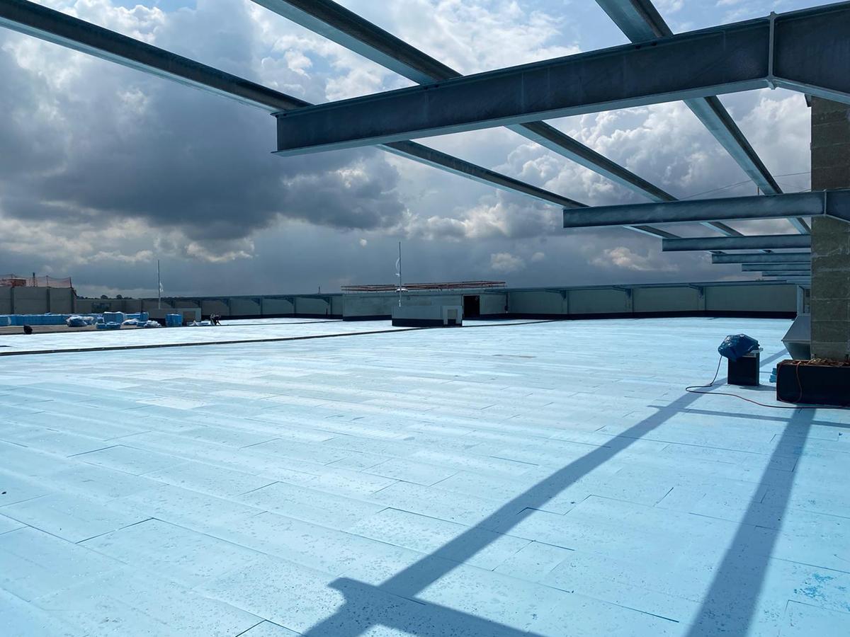 Smarte Dächer sind blau