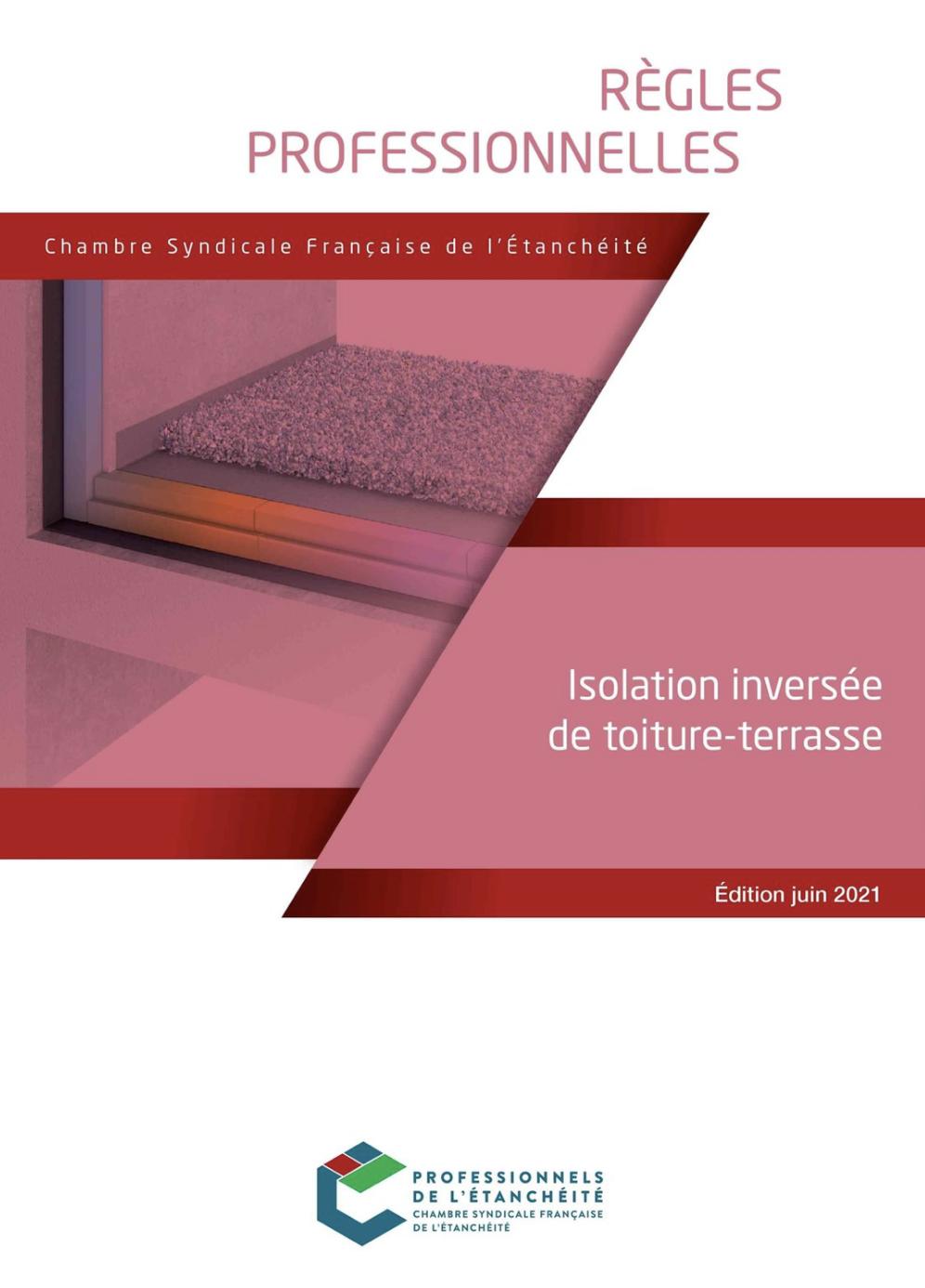 Règles Professionnelles isolation inversée de toiture-terrasse