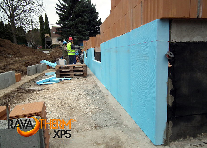 falak hőszigetelése nagyvastagságú XPS-sel