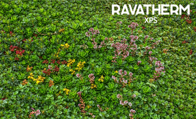 High-thickness XPS also in green roof