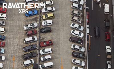 Parkolótetők kialakítása fordított rétegrendben