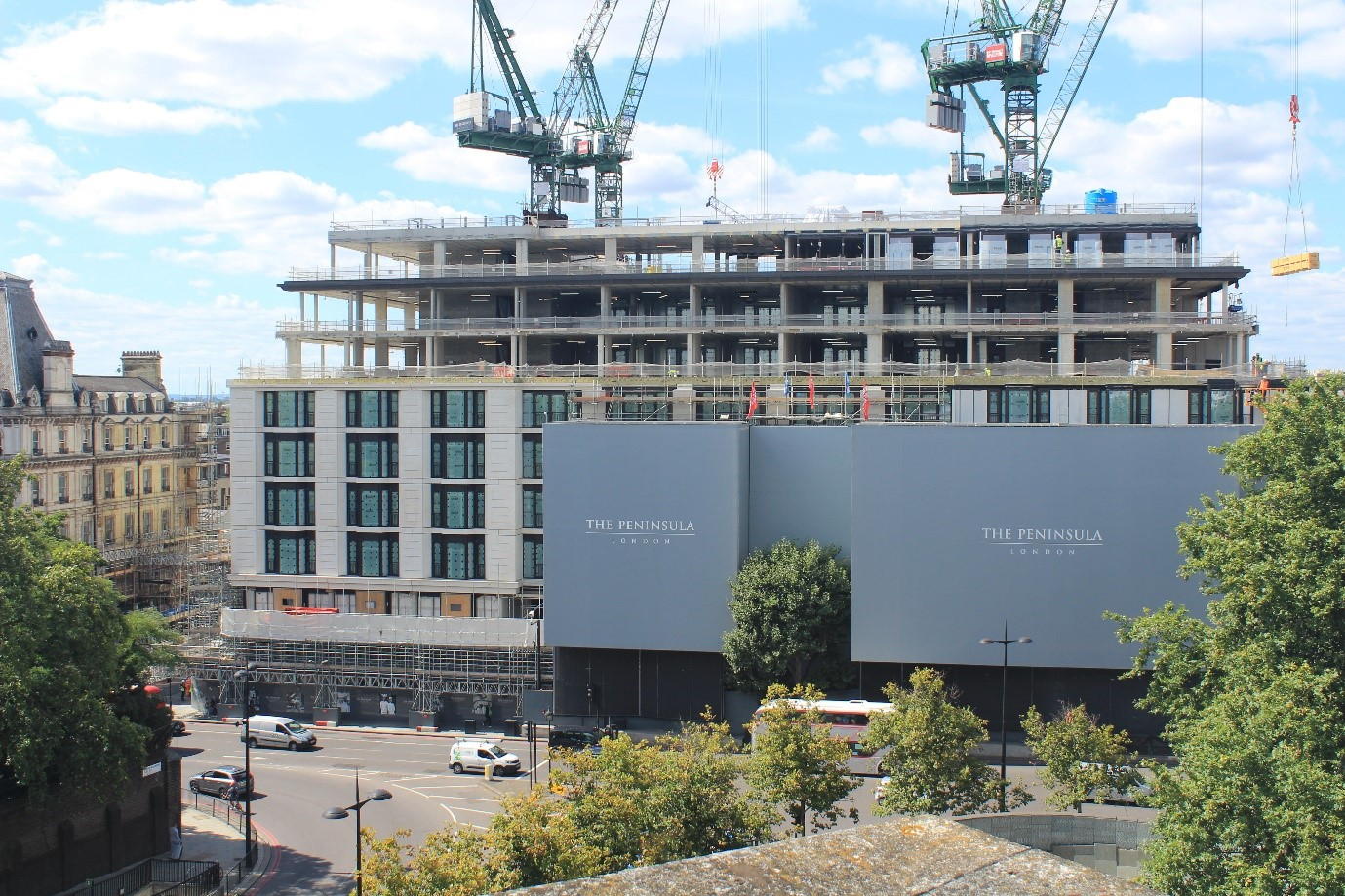 Ravatherm XPS X used for prestigious new Peninsula London hotel project